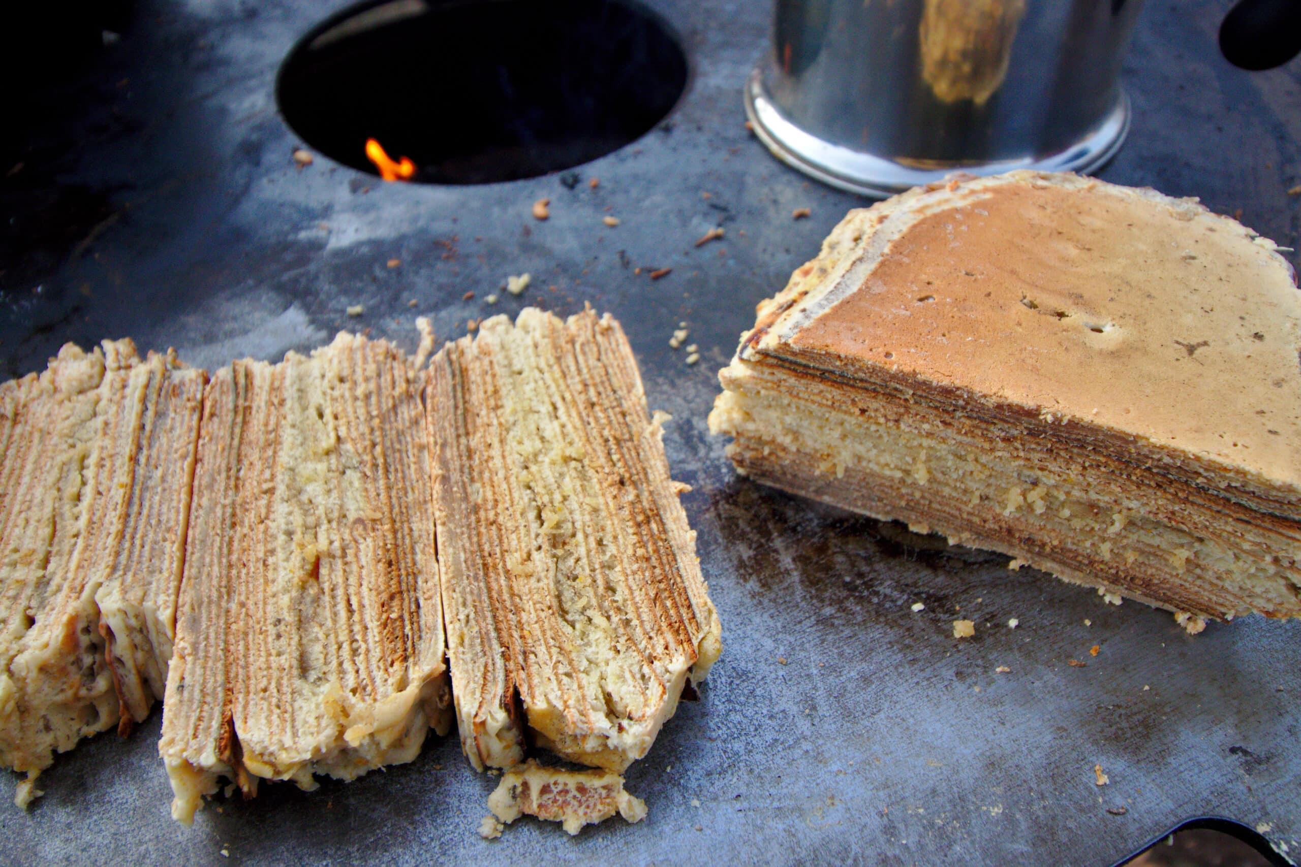 (Pfannen-)Baumkuchen von der Grillplatte