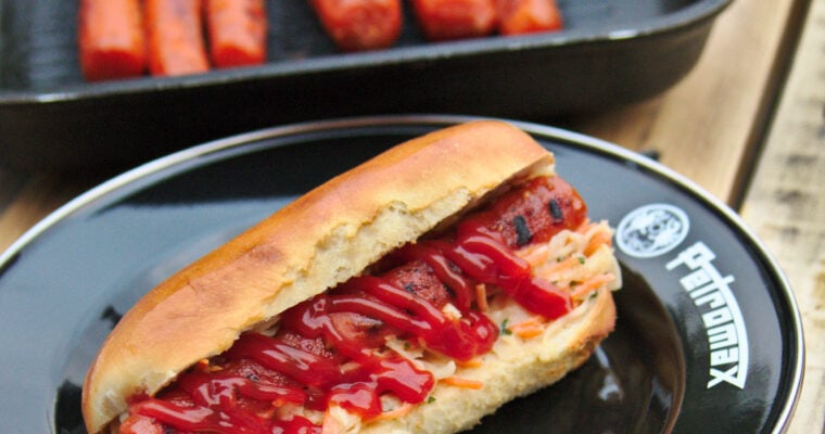 Carrot-Dogs mit Cole-Slaw